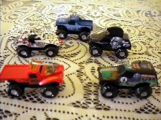 MONSTER TRUCK CHRISTMAS ORNAMENT SET ORNAMENTS   GRAVE DIGGER + MORE 5