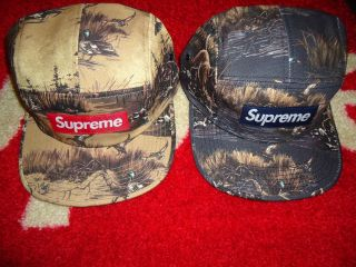 2012 F/W DOGS AND & DUCKS SAFARI CAMO BOX LOGO CAMP CAP HAT TYLER CDG