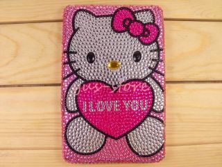Love Heart Hello Kitty crystal cover case fr  Kindle Fire HD 7