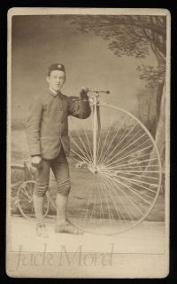 PENNY FARTHING High Wheel Bicycle // CDV Photo // ENGLAND
