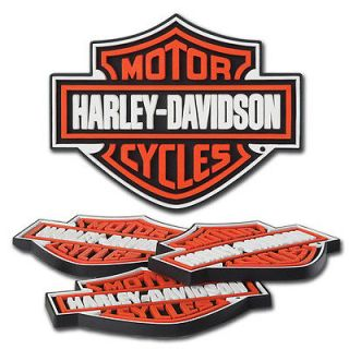 HARLEY DAVIDSON Bar & Shield 4pc Rubber Coaster Beverage Mat Set HDL