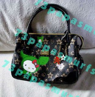 VERY RARE* NWT Tokidoki Hello Kitty BLACK BOSTON BAG Bastardino Adios