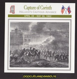 CAPTURE OF CORINTH MISSISSIPPI 1862 U.S CIVIL WAR CARD Beauregard