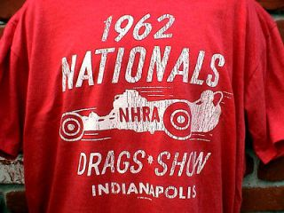 1962 NHRA NATIONALS T SHIRT FORD CHEVY MOPAR GASSER IHRA SCTA HARLEY