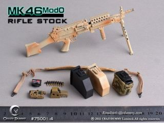 Crazy Dummy MK46 Mod0 Rifle Stock #75001 4 Desert