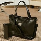 Clothes All Luxury Leather Mobile Wheeled Briefcase Luggage Case