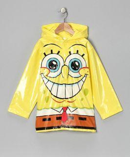 Nickelodeon Spongebob Squarepants Boys Yellow Rain Coat  All sizes