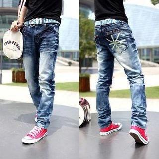 2012SS Fashion Mens washed Union Jack Flag design Personality Jeans
