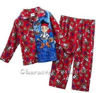 JAKE AND THE NEVERLAND PIRATES 2T 3T 4T Pajamas pjs Shirt Pants BOYS