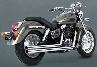 VANCE & HINES EXHAUST LONGSHOTS CHROME HONDA SHADOW AERO 1100 1998