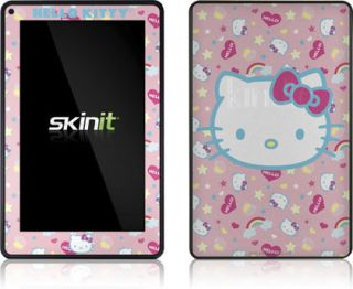 Skinit Hello Kitty Pink Hearts Rainbows Skin for  Kindle Fire