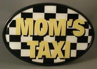 MOMS TAXI TRAILER HITCH COVER Tow NEW Truck RV ATV SUV Car Checker