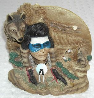 Spirit of Vision Indian Wolf American Figurine Hamilton Collection