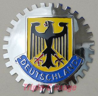 DEUTSCHLAND GERMAN/GERMANY FLAG CAR GRILLE BADGE