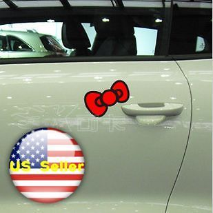 Hello Kitty Black Red Big Bow Laptop Car Girl Decal Vinyl Sticker