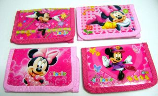 NEW Girl Disney Minnie Mouse Trifold Wallet Purse Birthday Party Favor