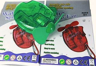 4X WATER FANS FILL THIS HAND HELD FAN WITH WATER STAY COOL WITH WATER