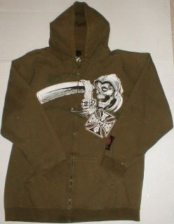 West Coast Choppers rare Jessie James Hoodie Sweatshirt Jacket Grim