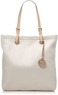 Michael Kors Jet Set Item Leather N/S Tote Purse Vanilla #5178