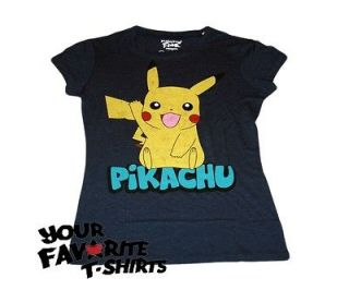 Pokemon Pikachu Pika Wave Licensed Woman Junior T Shirt S XL