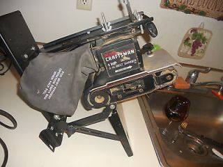 Newly listed Craftsman 1 HP Belt Sander With Dust bag