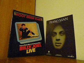BILLY JOEL ROOT BEER RAG 1983 PIANO MAN LOT X 2 CONCERT 1974 LIVE BIG