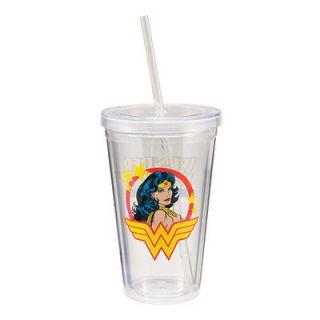 75551Wonder Women™ 18 oz. Acrylic Travel Cup With Straw, Cartoons Tv