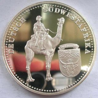 Palau 1999 German East South Africa 5 Dollars Silver Coin,Proof,Rar