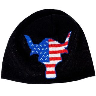 The Rock Team Bring It USA Bull WWE Skull Beanie Cap Hat New