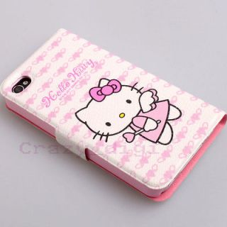 New Lovely pink Hello Kitty Leather Wallet Pouch Case Cover skin for