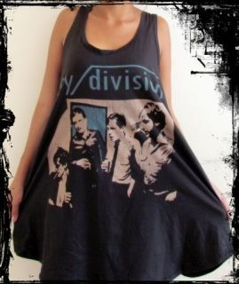 Ladies Joy Division Dress*** Free Size Tank Top T Shirt Vest