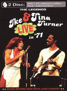 Ike and Tina Turner   Live in 71 DVD, 2004, With Bonus CD