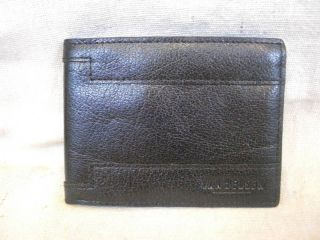 Van Heusen Mens Black Leather Passcase Wallet