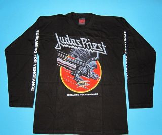 Judas Priest   Screaming for Vengeance T shirt Long Sleeve size L NEW