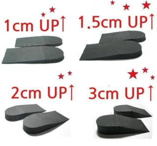 Height Increase shoes Inserts Insoles Heel Lifts Pads 1cm , 1.5cm