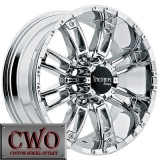20 Chrome Incubus Crusher Wheels Rims 8x165.1 8 Lug Chevy GMC Dodge