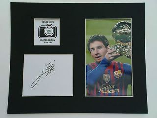 Limited Edition Lionel Messi Signed Mount Display AUTOGRAPH FC