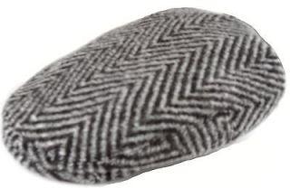 Traditional Irish Grey Tweed Wool Flat Cap Hat Ireland sz S M L XL XXL