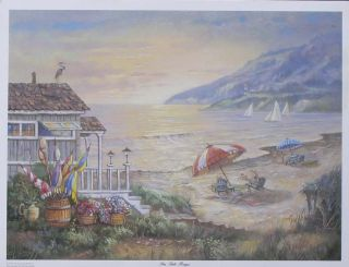 Carl Valente SEA SIDE RAYS Beach Print