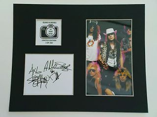Limited Edition Guns N Roses Signed Mount Display MUSIC AUTOGRAPH