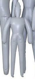 Infant Toddler Gray Inflatable Mannequin Blow Up Halloween Prop 43