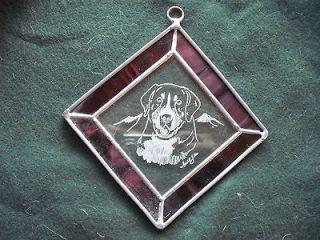 Greater Swiss Mountain Dog Handengraved medallion by Ingrid Jonsson