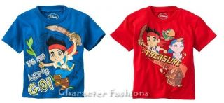 JAKE AND THE NEVERLAND PIRATES 2T 3T 4T SHIRT TEE TOP BOYS Toddler