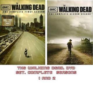 The Walking Dead DVD. COMPLETE SEASONS 1&2. NEW. FAST