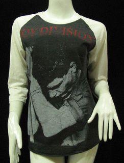 lan Curtis JOY DIVISION Vintage Jersey T Shirt Women M