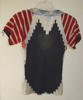 JEAN PAUL GAULTIER MAILLE FEMME GORGEOUS MULTI COLORED SHEER TOP SZ  S