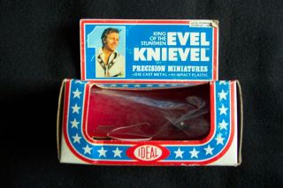 ORIGINAL VINTAGE EVEL KNIEVEL EMPTY BOX (FOR THE FUNNY CAR) BY IDEAL
