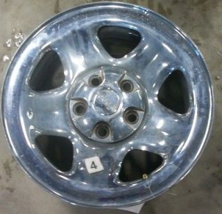02 03 04 JEEP WRANGLER WHEEL 15X7 STEEL 5 SPOKE CHROME