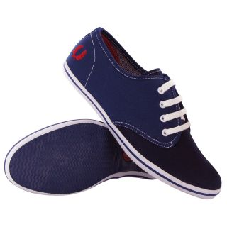 fred perry koko canvas plimsolls blue womens trainers location united