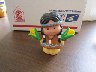 Little People Mayflower Thanksgiving Indian lady girl mom corn food